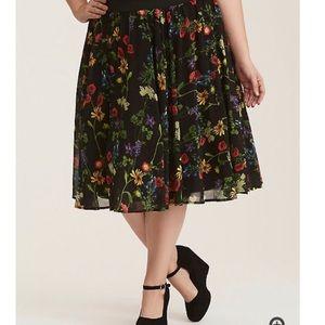 Torrid Layered Floral Midi Skirt